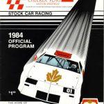Checker Flag Program Cover - 1984